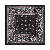 4 Pack X-Large Paisley Cotton Printed Bandana - 27...