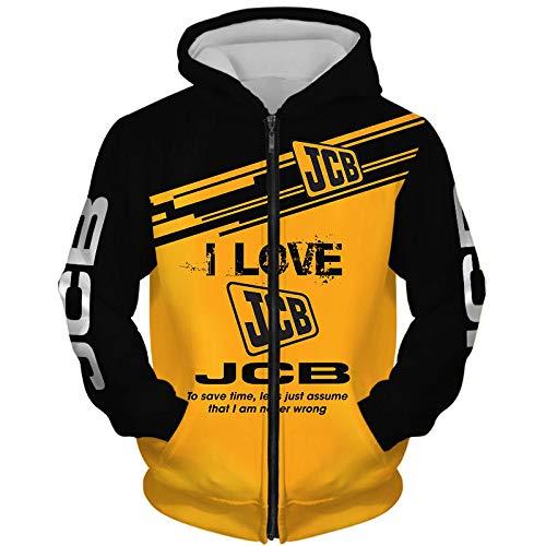 Ashleyy Capucha Chaqueta Hombre Y Mujer For J.C.B 3D Completo Impresión Cárdigan Delgado Casual Poliéster Sweatshirt Deporte / B/L