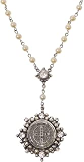 Cloister Rosary in Silver Pearl