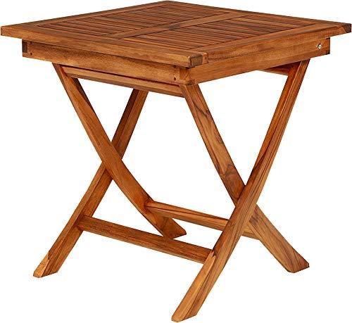 ガーデンテーブル テーブル ダイニングテーブル 幅70cm チーク材 正方形 アウトドア 木製 屋外 テラス 折りたたみ 軽量 コンパクト