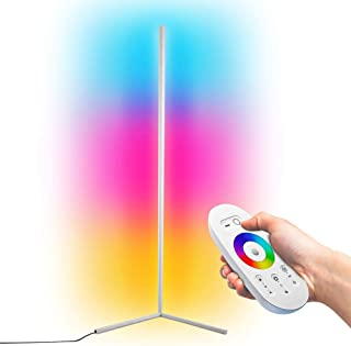 GDFGTH Moderna LED Lámpara de Pie RGB Regulable Luces de pie Coloridas Estilo Minimalista con Mando a Distancia para salón, Dormitorio o Sala de Juegos Restaurante,Blanco,140cm
