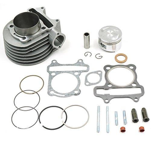 Glixal ATMT1-017 GY6 150cc 57.4mm Cylinder kit with Piston Kit 4 Stroke 152QMI 157QMJ TAOTAO JONWAY ZNEN Roketa ATV Moped Go-Kart