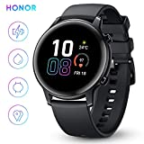 HONOR Smart Watch Magic Watch 2 (42 mm), Fitness Tracker Watch Hombre Mujer Smart Watch, 5 ATM Monitor de frecuencia cardíaca de muñeca, Pantalla a Color de 1.20 Pulgadas, GPS, Negro Mate