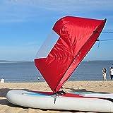 Yangxue Vela para Kayak, Kayak Vela Paddle 42 Pulgadas Accesorios de Kayak Canoa Compacto y Portátil fácil instalación y despliegue rápido, Compacto y portátil