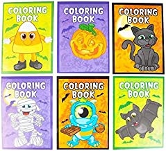 Rhode Island Novelty 5 Inch x 7 Inch Halloween Coloring Books, Pack of 12