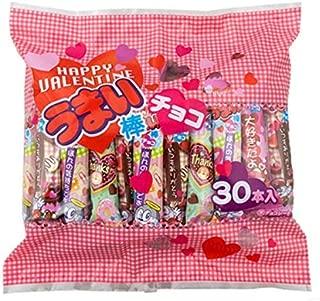 やおきん うまい棒 チョコ バレンタイン パッケージ 30本×3袋