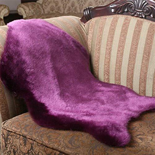 YIWOYI Alfombra mullida de piel sintética, suave, suave, para sofá, dormitorio, sala de estar, 40 x 60 cm
