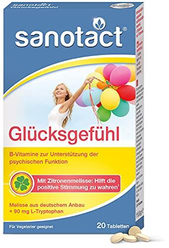 sanotact Glücksgefühl Tabletten 20 St. mit Zitronenmelisse, B-Vitaminen und L-Tryptophan