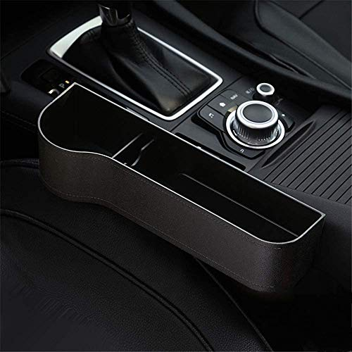 SUNMORN Car Seat Gap Organizer, Multifunctional with Small Cup Holder, Storage Box, NOT FIT Console Lower Than The Seat (Black)