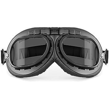 CGM Occhiali vintage da casco 705V OLDSTYLE Silver lente specchiata