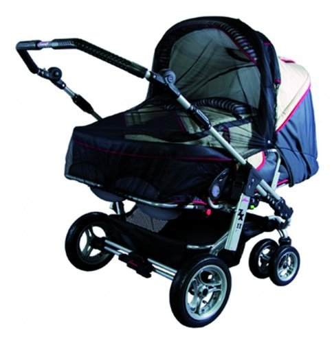 Sunnybaby 10363 Insektenschutznetz für Zwillings-Kinderwagen - Farbe: SCHWARZ