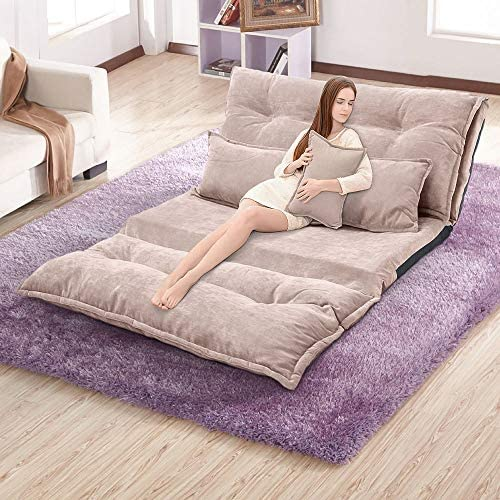 KTN Floor Sofa Bed Adjustable Folding Futon Sofa Floor Couch with Floor Pillows Futon Couch product image