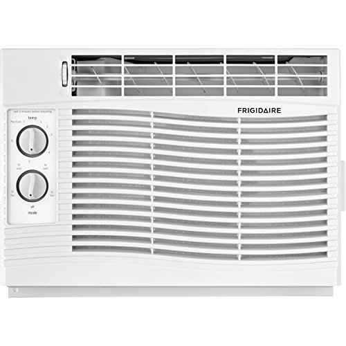 Frigidaire, White 5,000 BTU 115V Window-Mounted Mini-Compact Air Conditioner with Mechanical Controls, 5000