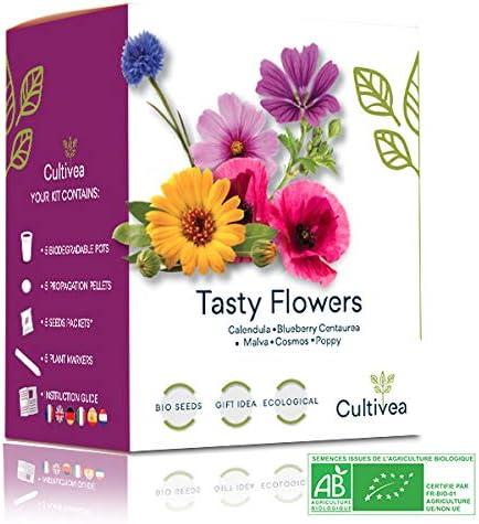 Cultivea - Mini kit pronto a coltivare fiori commestibili rari