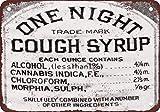 1888 Husten Sirup Cannabis, Chloroform und Morphine Vintage Look Reproduktion Aluminium Schild Geschenk Schild Wandschild Dekoration