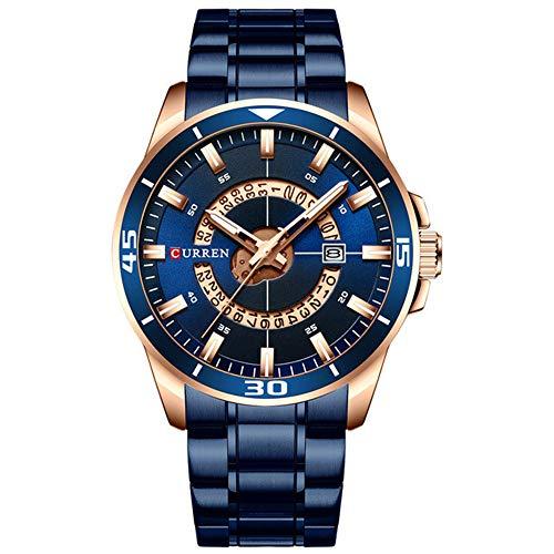 Reloj de Hombre Dial Azul Acero Inoxidable Relojes de Hombre