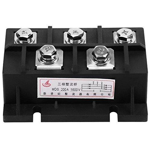 MDS-200A Amp 1600V Drei Phasen Diode Modul Brücke Gleichrichter Leistung Modul Liefern zum Einzelphase Berichtigung MEHRWEG VERPACKUNG