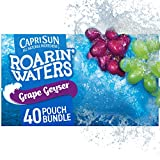 Capri Sun Roarin' Waters Grape Geyser Flavored Water Beverage, 10 - 6 fl oz Pouches