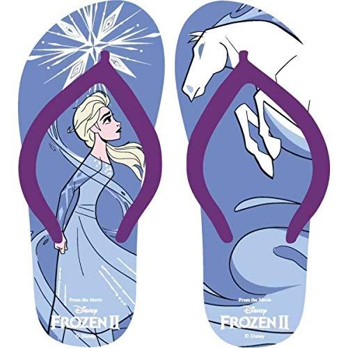 Tongs La Reine des Neiges II, Tongs Plage Fille Disney Frozen II (Bleu, Numeric_26)