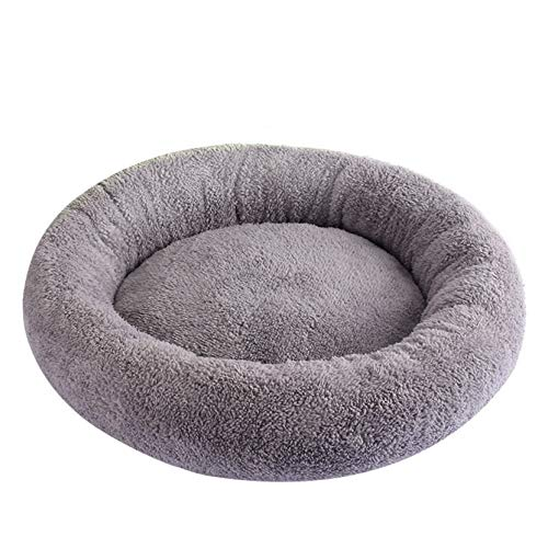 WANK Round Bolster Dog Bed Super Soft Plush Donut Cat Bed Warming Machine Washable Pet Cushion Bed for Indoor Cat, Small Dogs