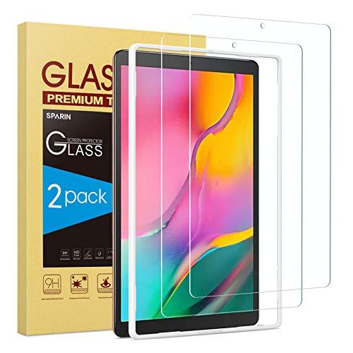 SPARIN [Pacco da 2 Vetro Temperato Pellicola Compatibile con Samsung Galaxy Tab A 10.1 2019 Modello, Vetro Protettiva per Galaxy Tab A 10.1 Pollici