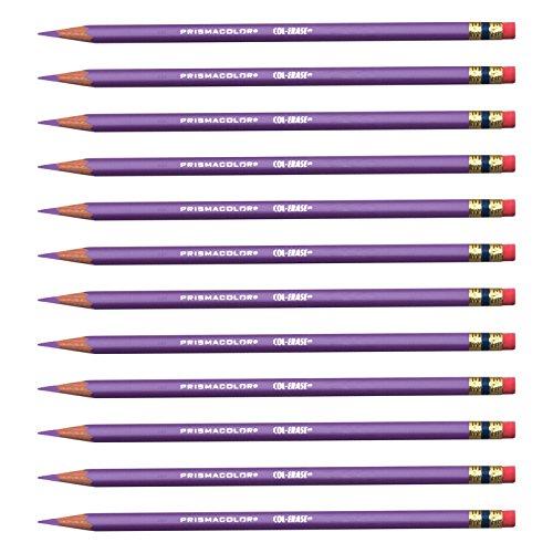 Prismacolor Col-Erase Erasable Colored Pencils, Lavender (20062), Dozen