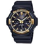 Casio-G-Shock-GAS100G-1A-Tough-Solar-ResinStainless-Steel-Mens-Watch-Black