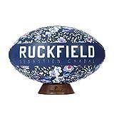 Ruckfield - Ballon de Rugby Fleuri - Bleu