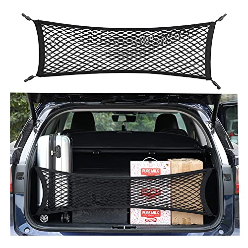 Double-Layer High Elastic Car Rear Cargo Net for SUV Car Trunk Net Organizer, Automotive Cargo Nets