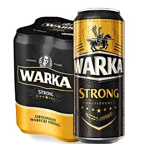 Große Dose 500ml! Warka Strong Bier aus Polen 12 Dosen im Paket, Piwo