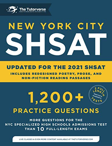New York City SHSAT: 1,200+ Practice Questions