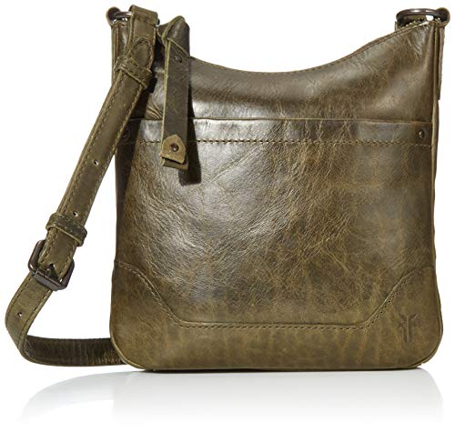 Antique pull up leather crossbody from frye's best selling melissa collection 1 interior zip pocket, 1 exterior front pocket adjustable crossbody strap Dimensions: 9.5 inches W x 9 inches H x 1 inches D; 24 inches strap drop