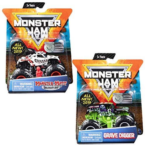 Monster Jam 6044941 - Original Monster Jam Truck mit Zubehör im Maßstab 1:64 (Sortierung mit verschiedenen Designs)