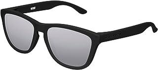 Hawkers Men's CARBON SILVER ONE OTR50 Rectangular Sunglasses, Black, 12 mm