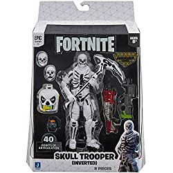 The Skull Trooper (Inverted) 6-inch action figure features interchangeable faces, 36+ points of articulation, and highly detailed decoration inspired by one of the most popular Outfits from Epic Games' Fortnite. Skull Trooper (Inverted) is equipped w...