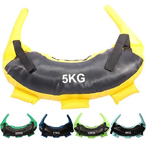 POWRX Sacca bulgara 5-22 kg - Perfetta per Migliorare Equilibrio, Forza, flessibilità e coordinazione (5 kg)