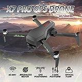 Kedelak CSJ X7 Pro GPS RC Drone avec caméra 4K 5G WiFi 2 Axes Gimbal Brushless Quadcopter Positionnement du x Optique Piste Vol Poi Vol Suivez-Moi Geste Photo Vidéo Portable Sac à Dos 2 Batteries