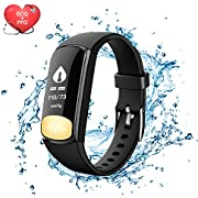 Fitness Tracker Watch, Uten Smart Activity Tracker with Dynamic Blood Pressure and Heart Rate 24 hrs Monitor, IP67 Waterproof, Body Fat, Calorie Counter, Pedometer Watch for Kids Women Men(ECG+PPG)