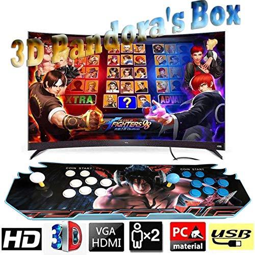ZQYR# Pandora's Box 3D Consola de Videojuegos 1280x720P Arcade Machine 4000 Juegos clásicos, Home Arcade Game Console TV Video Games Kit with 2 Joystick PC/Laptop/TV/PS, GM51211