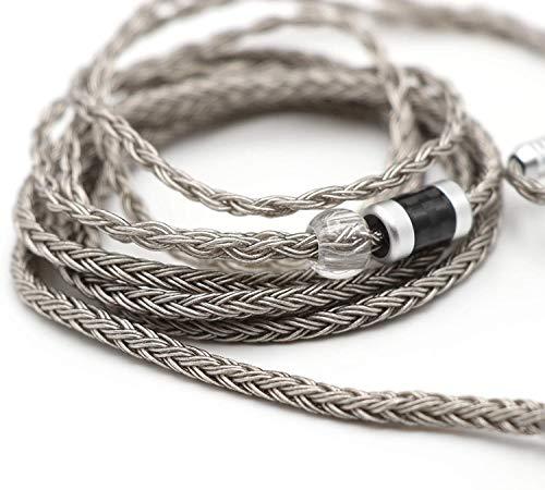 Linsoul Tripowin Zonie 16 Core Cable SPC para auriculares (QDC-3,5 mm, gris)