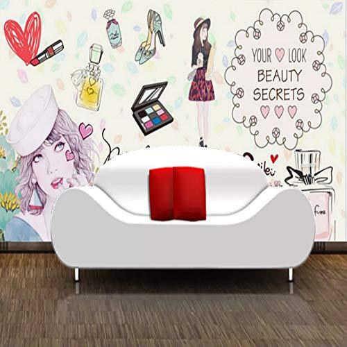 Leekkoka Muurschildering Handgeschilderd Mode Schoonheid Huidverzorging Tattoo Cosmetica Winkel Behang Handgemaakte Lippenstift Nagel Schoonheid Behang 500cm*320cm(H)