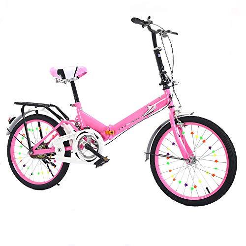 QYCloud Mini Bicicleta de montaña Plegable Ligera, Bicicletas rápidas con Freno en V, Bicicleta Plegable Shock Frenos de Disco Doble Bicicleta para Estudiantes