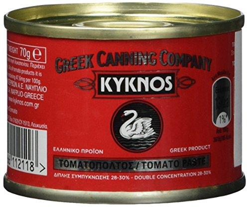 Kyknos doppelt konzentrierte Tomatenpaste 28-30{43965580ce9b59f486613328d37e4ac011413ac5a3990e3eec2f41375f1bce80} - 70g Dose (1 x 70 g)
