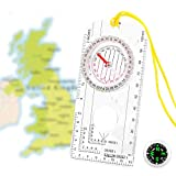 SOOKIN Explorer Compass Orienteering Compass Navigation Compass with Lanyard and Button Compass Pocket Compass - Expedition Map Reading, Camping, Mountaineering, Hiking, Army & Outdoor Activities