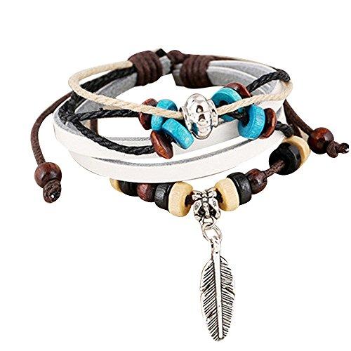 UINGKID UNIKID-Serie Kreative Stilvolle Charming Armreif Mode Frauen mehrschichtiges handgemachtes Armband Leder Armband Armreif