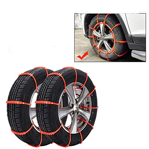 10Pcs Auto-Schnee-Reifenketten, Gleitschutzketten-Rad-Reifen-Werkzeuge Für Atreus, BMW E46 E39 E36 X5 X6 Audi A4 B6 A3 A6 C5