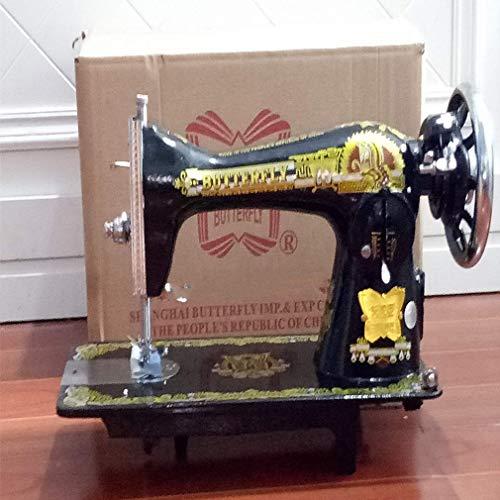 YLJYJ Máquina de Coser eléctrica Vintage, máquina de reparación de Accesorios extraíble, máquina de overlock de sastrería Acolchada con Pedal, fabricación de DIY A (máquina de Coser)
