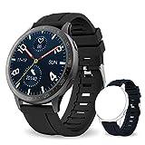 Bebinca Smartwatch Full-Touch Color Display, Fitness Tracker con Cardiofrequenzimetro&Pressione sanguigna Notifiche Messaggi, IP68 Impermeabile, Batteria Ultra lunga IOS/Android DIY watchface(Nero)