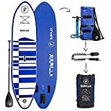 Supflex 10' Inflatable Stand Up Paddleboard (6' Thick) | 2-YR Warranty, Includes Backpack, Paddle, HP Pump & Free Leash