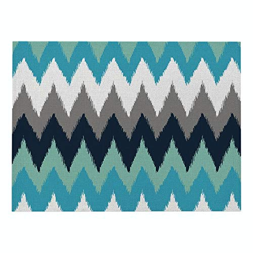 Z-LIANG Geometric Patterns Simple Style Distinctive Placemat Table Napkin Dining Table Mat Bowls Drink Coasters Kitchen Accessories Decoration (Color : CD011 1, Size : Polyester Hemp)